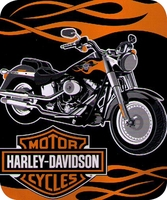 Harley Davidson Fat Boy Blanket