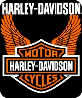 Harley Davidson Orange Wings Jumbo Blanket