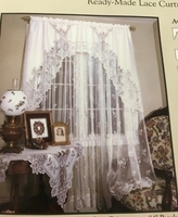 """Heirloom Lace White Curtain Panel; 60"""" X 63"""""""