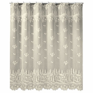 Heritage Lace Pinecone Shower Curtain ECRU