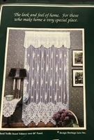 "Hertiage Lace Floral Trellis Panel; 60"" X 84"" White; 1 panel"
