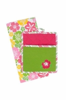 Hibiscus Embroidered Gift Set