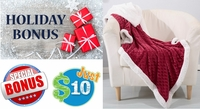 Holiday Sherpa Throw Just $10 with ANY Purchase!