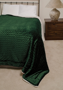 Hunter Chevron Sherpa Blanket