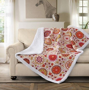 Jasmine Quilted Sherpa Throw
