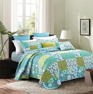 Kyoto Patchwork (Brights) Full/Queen Quilt Set