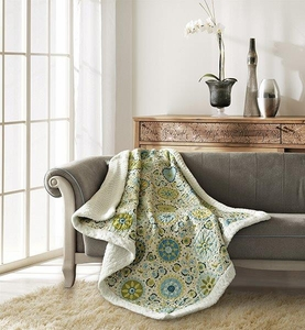 Latifa Quilted Sherpa Throw