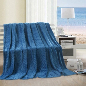 Leaf Throw Blanket:  Blue