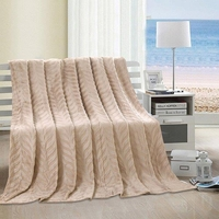Leaf Throw Blanket:  Cream