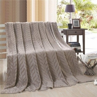 Leaf Throw Blanket:  Gray