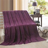 Leaf Throw Blanket:  Purple