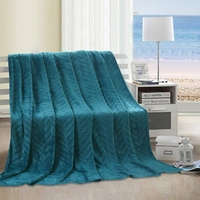 Leaf Throw Blanket:  Teal