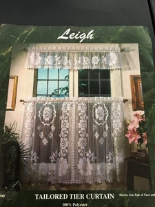 "Leigh Curtain Tier 60"" X 36""  Color: White"