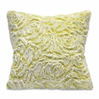 Lime Roses Sherpa Accent Pillow
