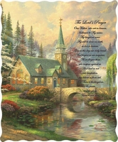 Lord's Prayer Inspirational Quilted Throw