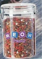 Meow - Acrylic Cat Treat Container