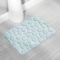 Mist Green Pebble Memory Foam Bath Mat