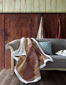 Montana Cabin Quilted Sherpa Throw