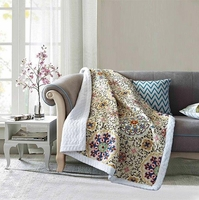 Mudra Quilted Sherpa Throw