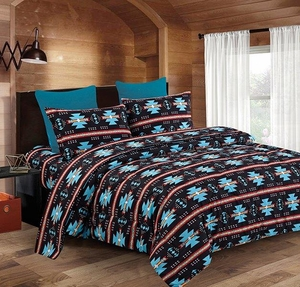 Native Black & Turquoise Bed In a Bag