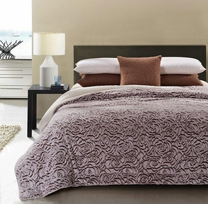 Natural Roses Luxury King Size Sherpa Blanket