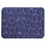 Navy Pebble Memory Foam Bath Mat