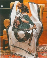 Norman Rockwell Tapestry Throw