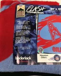 Houston Oilers Classic NFL Blanket - Made in USA