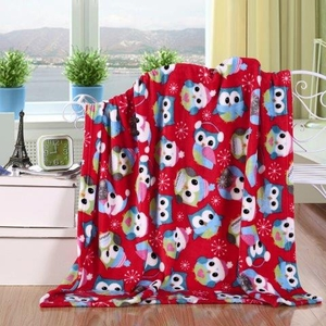 Owl Collage Holiday Throw