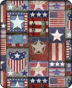 Patriotic Patchwork Luxury Blanket