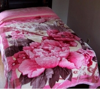 Pink Flowers Super Heavyweight Blanket