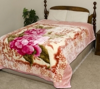 Pink Peonies Super Heavy Weight Blanket