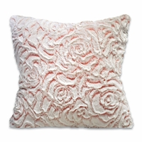 Pink Rose Sherpa Accent Pillow
