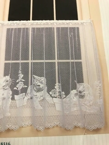 "Playful Kittens Curtain Tier 60"" X 36"""