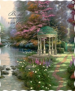 """Psalm 46:10 Be Still"" Thomas Kinkade Quilted Throw"
