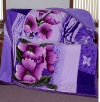 Purple Flowers Super Heavyweight Blanket