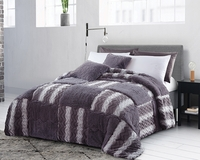 Checkered Raging Sea Luxury Textured Sherpa Blanket