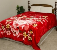 Red Floral Super Heavyweight Blanket