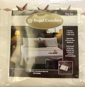 Regal Comfort Sheet Set:   KING CREAM