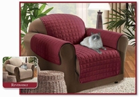 Reversible Chair Protector- Burgundy