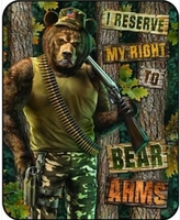 Right to Bear Arms Luxury Blanket