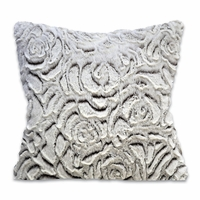 Rose Sherpa Accent Pillow