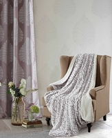 Roses Natural Sherpa Throw