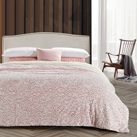 Roses Pink Luxury Textured Flannel Blanket