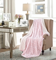 Roses Pink Sherpa Throw