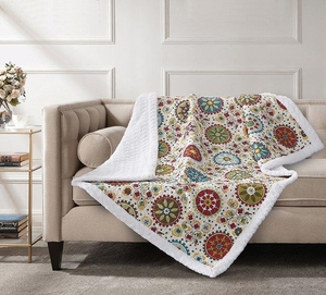 Rosina Quilted Sherpa Throw