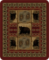Rustic Bear Luxury Blanket