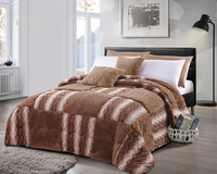 Sandstone Checkered  Luxury Textured Flannel Blanket
