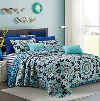 Shanti Navy/Blue King Quilt Set