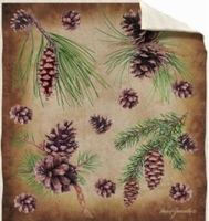 Silk Touch Sherpa Throw Pine Cones